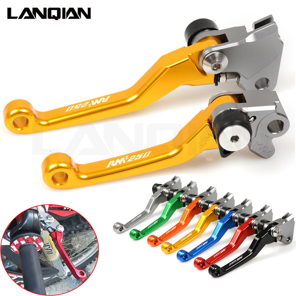 CNC For SUZUKI RMZ 250 2007-2017 Motorcycle Brake Clutch Lever Dirt bike Pivot Lever RMZ250 07-17 2008 2009 2010 Handle Levers cnc adjustable motorcycle billet foldable pivot extendable clutch