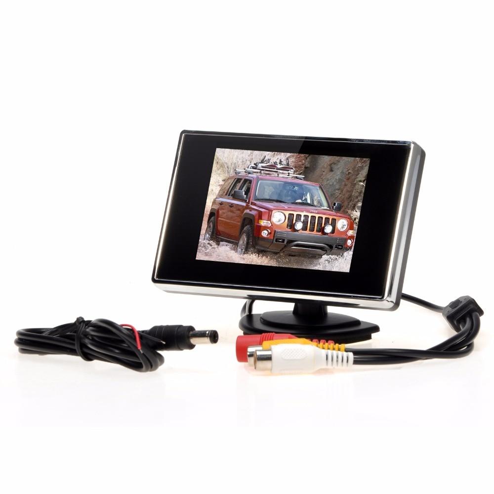 Kebidumei 3.5 дюймов TFT ЖК-дисплей автомобиля Мониторы Авто ТВ Автомобильная камера заднего вида Мониторы парктроник резервного обратный Мониторы автомобильный DVD Экран