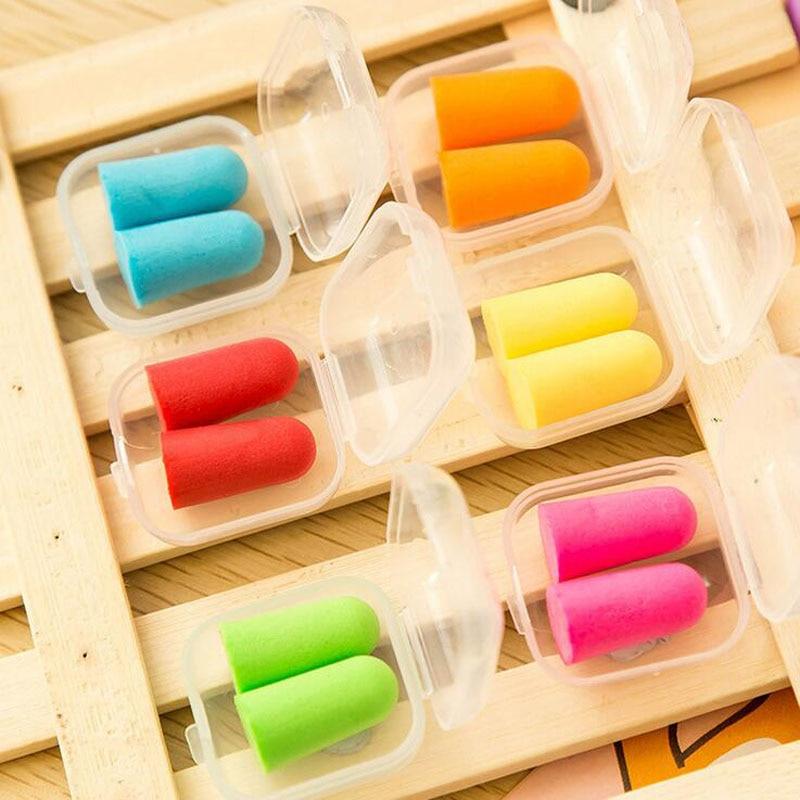 L18 5 пара конфеты беруши ухо протектор анти шума исследование сна помощник рабочих ушной пены подтверждено пластиковая коробка