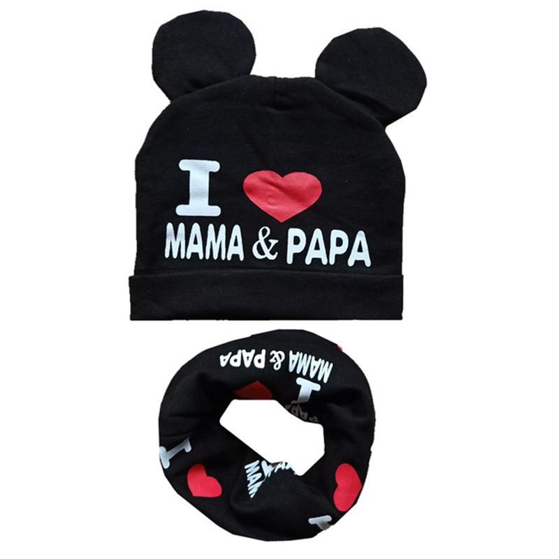 New Autumn Winter Baby Hat Sets Boys Girls Neck Scarf Spring Warm Neckerchief Kids Beanies Sets Cotton Children Hat Scarf Set