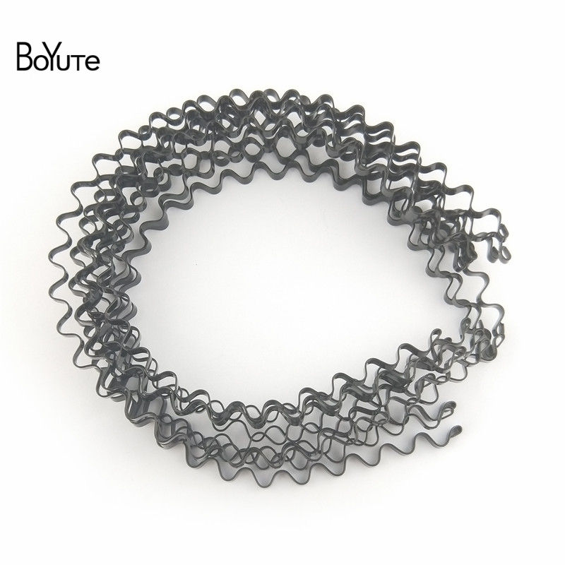 BoYuTe Retail 1 Piece Metal Black Hair Band Hairband New Style Black Color Metal Headband (11)