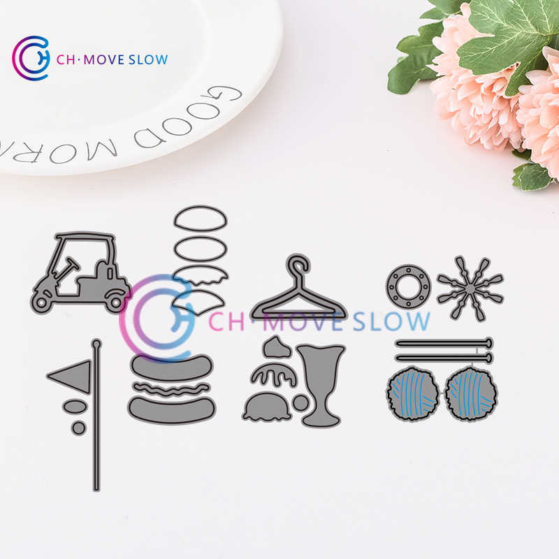 CH Small Cars and goods Metal cutting dies stencils Greeting Card Decoration DIY Scrapbooking Scrapbook Paper Photo Album