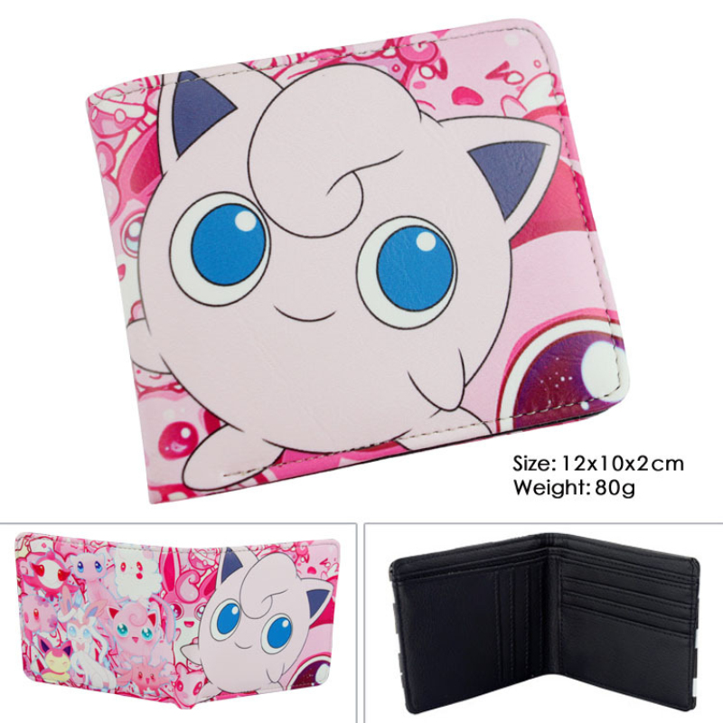 new design hot game pokemon go wallets pikachu wallet lovely cute purse female women's wallets pokemon ball cards holder pokemon go print purse anime cartoon pikachu wallet pocket monster johnny turtle ibrahimovic zero pen pencil bag leather wallets