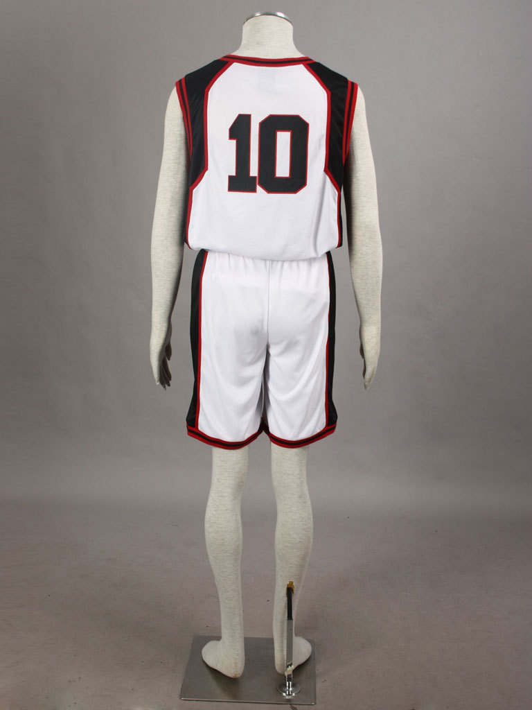 Kuroko No Basketball (Kuroko's Basketball) seirin high school Kagami Taiga  jersey white No.10 short sleeved anime cosplay-in Anime Costumes from  Novelty ...