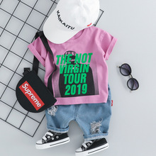Summer Clothes For Baby Boy Set O-neck T-shirt & Jeans Shorts Two-piece Newborn Boys Outfit Brand Casual Cotton Infant Clothing