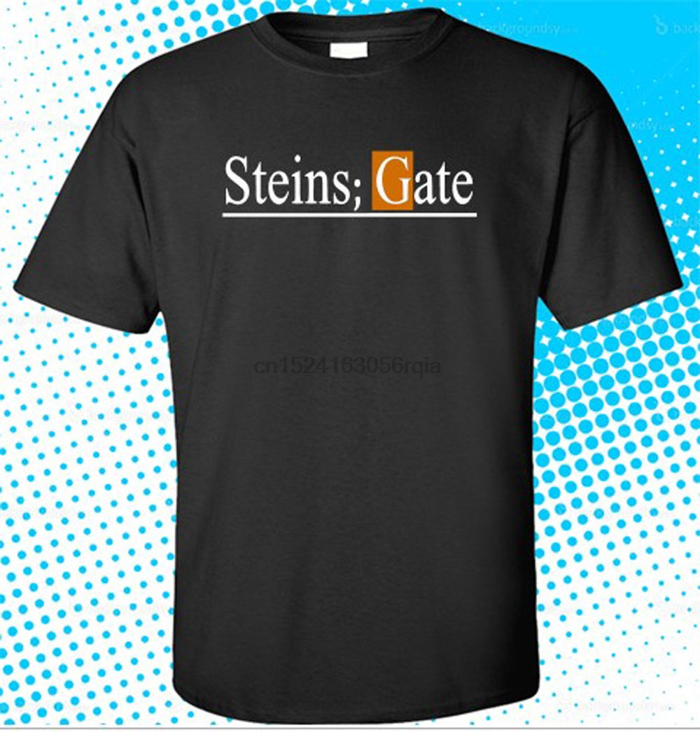 New Steins Gate El Psy Congroo Anime Logo Mens Black T-shirt Size S To 3xl Back To Search Resultsmen's Clothing