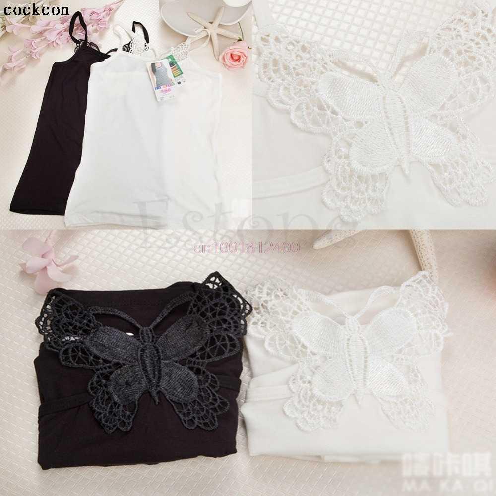 1pc Sexy Vest Women Lady Lace Strap Sleeveless Shirt Vest Blouse Tank Tops Black White Hot