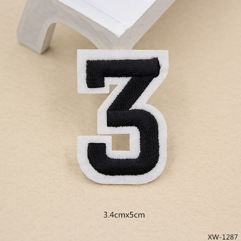 VIPOINT embroidery figure patches number patches badges applique patches for clothing XW 57 in Patches from Home Garden