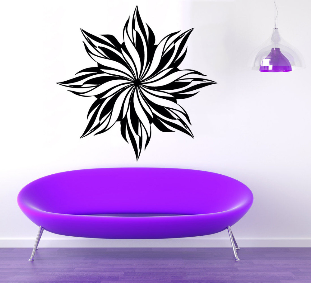 New Design Wall Stickers Home Decor Living Room Removable Vinyl Decal Mandala Flower Art Mural Bedroom Office Decoration LA133