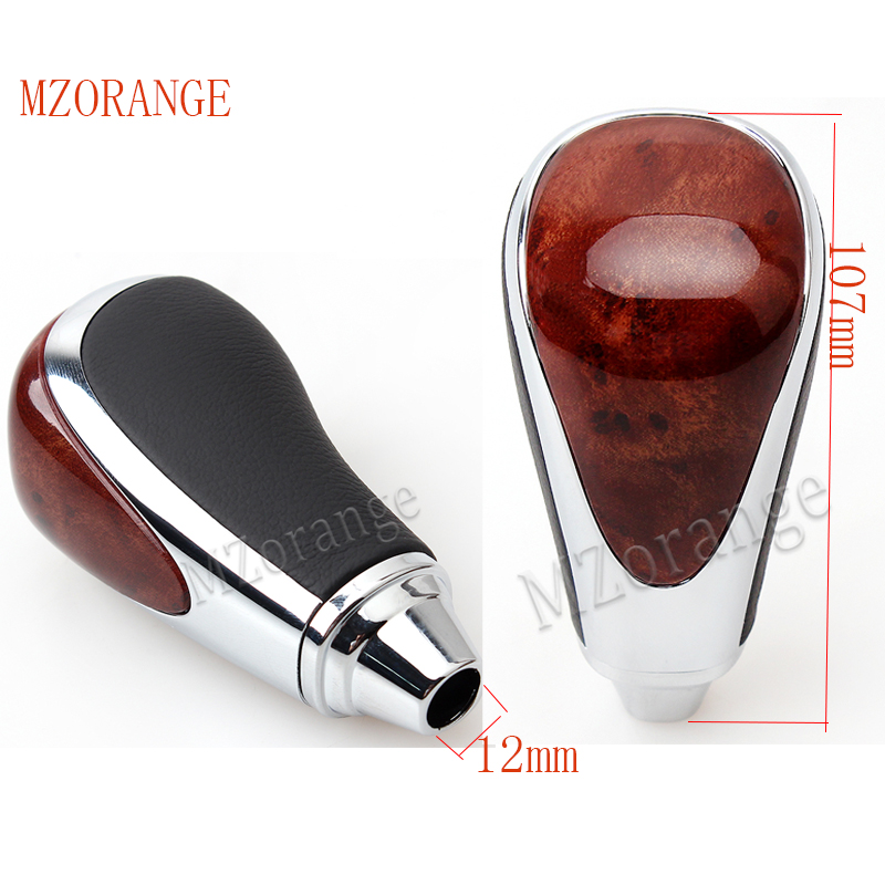 MZORANGE 1 Pcs Gear Shift Knob Automatic Transmission For Toyota Camry For Rav4 For Highlander Walnut Brown Gear Head Universal in Gear Shift Knob from Automobiles Motorcycles