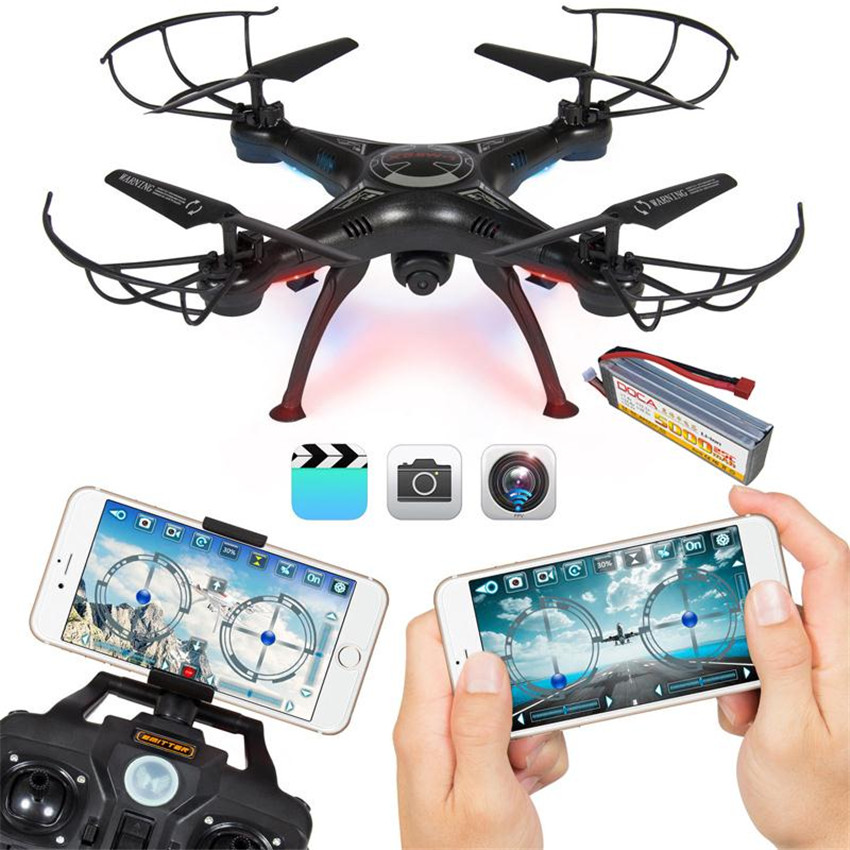4CH FPV Real Time Wifi Wireless RC Remote Control Drone Quadcopter Video Camera Black  wireless charger wifi remote control car with fpv camera infrared night vision camera video toy car tanks real time video call