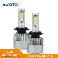 AUXITO 2x COB 9012 H7 H1 H11 H8 LED Car Headlight Bulb Fog Light 8000LM For