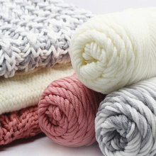 Wool Yarn Lana Wolle Scarf Roving Knit Thickness 95g Hat Warm Household