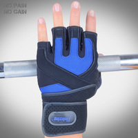 NO PAIN NO GAIN Fitness Weight Lifting Gloves Breathable Women Man Anti skid Protective Gloves Gym Training Sport 218