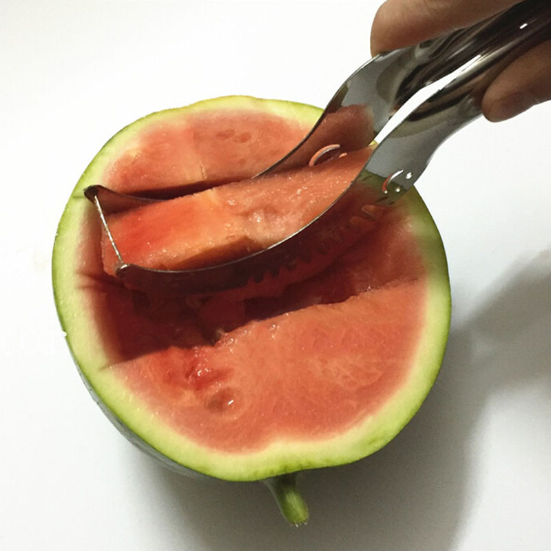 2017 Hot Kitchen Pratical Tools Creative Watermelon Slicer Fruit Cutter Knife Cantaloupe Fruit Slicer Cutter