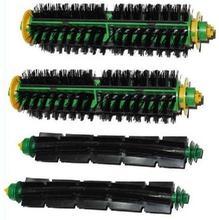 2set Bristle Brush + Flexible Beater Brush for iRobot Roomba 500 600 Series 550 560 610etc.Vacuum Cleaner Accessories,replacment