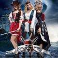 Хеллоуин костюм платье партии шоу выступление одежда пираты пираты Карибского моря капитан взрослых женщин одежда