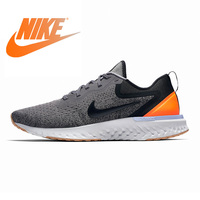 Original Authentic Nike Odyssey React Women's Running Shoes Grey & Orange Wear resistant Breathable Lightweight Non slip AO9820