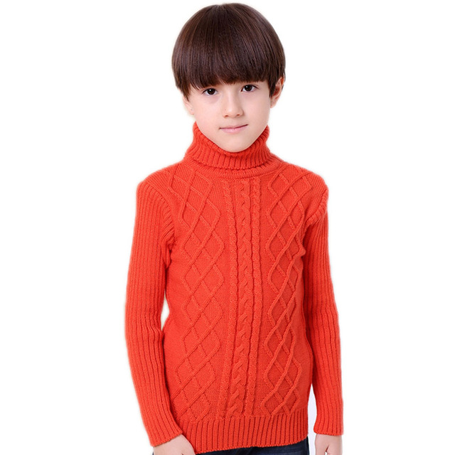 girl winter sweater 2017 new toddler boys girls sweater solid thicken children cardigans girls kids knitted turtleneck sweater