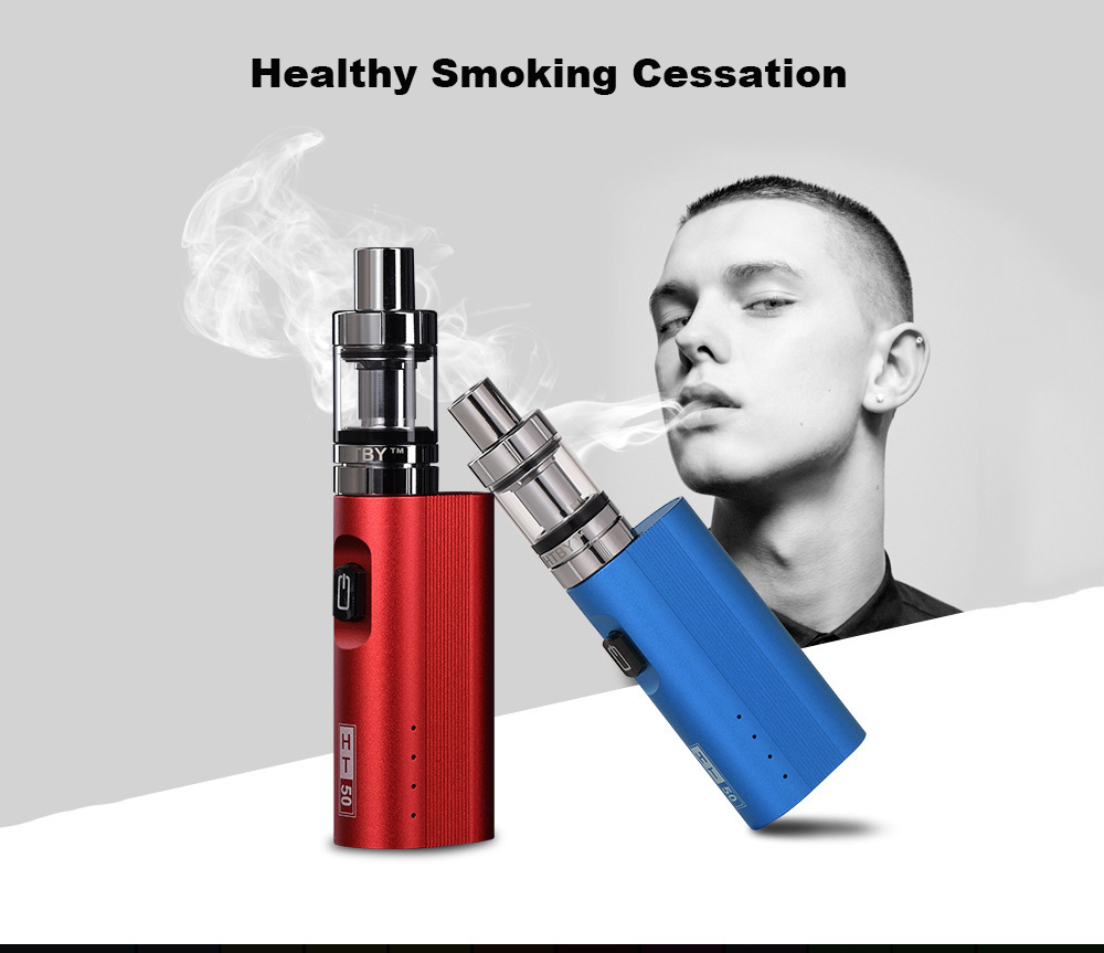 , vpe ht50 vape mod box kit 2200mah 0.5ohm battery 2ml Tank HT 50 e-cigarette atomizer vape