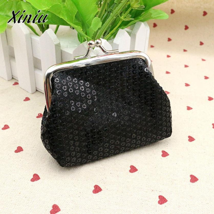 Coin Purse Womens Sequin Small Wallet Candy Colors Clutch Wallet Bag Coin Pouch Monederos Para Mujer *8111
