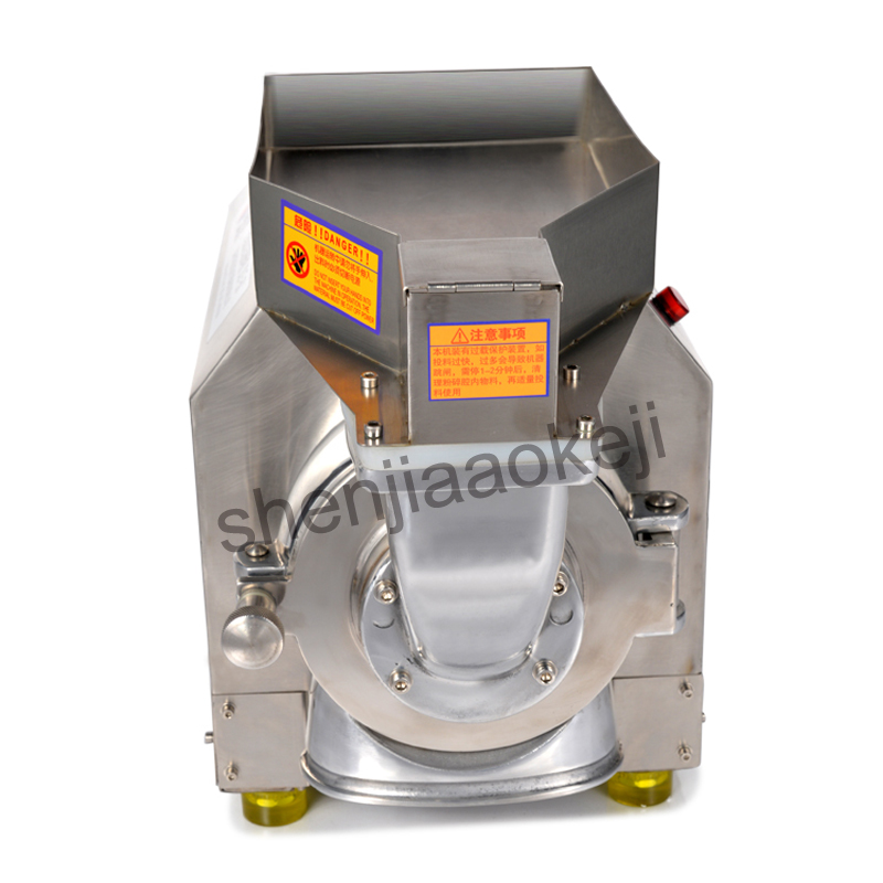 1PC DLF-40 stainless steel Commercial Chinese herbal medicine Grinder Electric grinding maching pulverizer 220V 2200W stainless steel chinese herbal crusher electric grinder 1000g household swing type cereals grinding machine mixer chopper device