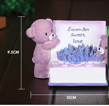 Purple Bears Book The Resin That Occupy Home Furnishing Articles Piggy Bank Modelling Unis