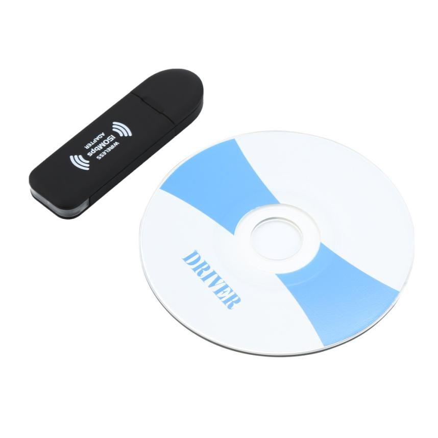 HIPERDEAL Wireless Internet USB Adapter WiFi Dongle 150Mbps High Speed Data Transfer 18Jun22 Drop Ship F