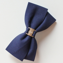 Solid Color Hair Bows With Metal Buckle Two Layers Bow Hair Clip Barrettes Hair Accessories For Women/Girls/Students(China)