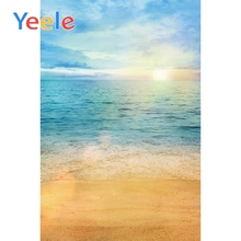 Yeele Seaside Beach Sunset View Professional Wedding Photography Portrait Backdrops Photographic Backgrounds For Photo Studio