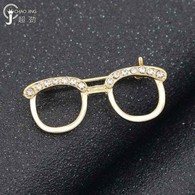40185d70137 2018 Fashion Jewelry Korean Crystal Glasses Brooch Lapel Pin Men Brooch  Hijab Pins Broches Vintage Rhinestone Brooch For Women