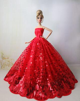 Genuine Case For Clothes Doll Barbie Dress Princess Wedding Dresses Evening Dress For Barbie Doll Accessories Outfits  Clothing