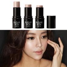 1 PC Sugar box Highlighter stick All Over Shimmer Highlighting Powder Creamy Texture Makeup  M01219