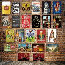 [ DecorMan ] Beer Coffee Morgan Tin Signs Custom wholesale Metal Paintings Bar PUB Decor HY-1725