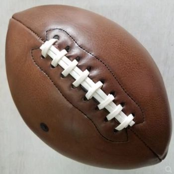 Sıcak! açık Spor Rugby Topu Amerikan Futbolu Topu Vintage PU Boyutu 9 Kolej Gençler Eğitim/dekorasyon, ücretsiz kargo!