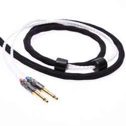Black 16 Cores 5N Pcocc For FINAL Audio D8000 Headphone Upgrade Cable Extension cord