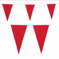120 banderas, 60 M de tela roja banderines suministros para fiestas de jardín, decoración festiva y de fiesta, suministros rojos para bodas, pancarta roja para fiestas