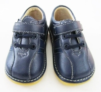 Navy Baby Boy Shoes Baby Squeaky Shoes Free Shipping Children Boy Shoes