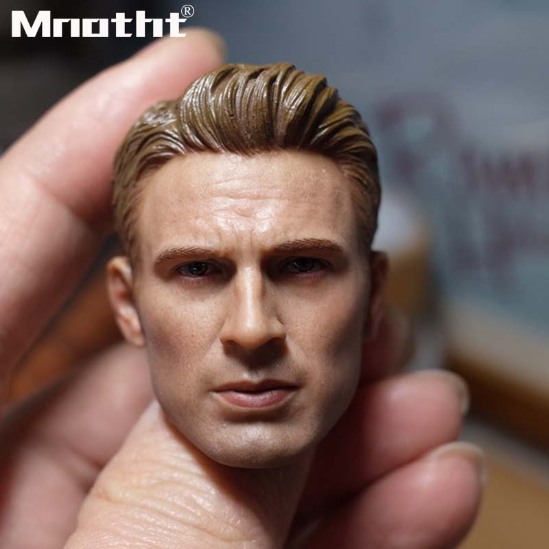 1 6 Scale chris evans Head Sculpt for 12inch Action Figure Male Soldier Toys Collection m5