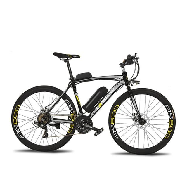 Cyrusher RS600 дорожный Электрический велосипед 240 Вт 36 В 15HA литиевая батарея 21 скорость 700Cx28C 50 см углерода сталь рамки с Smart ЖК дисплей