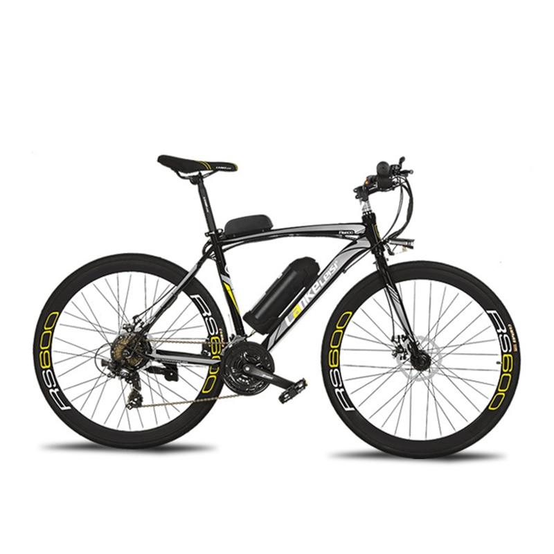 Cyrusher RS600 Route Vélo Électrique 240 W 36 V 15HA Batterie Au Lithium 21 Vitesse 700Cx28C 50 CM En Acier Au Carbone Cadre avec Smart LCD Affichage