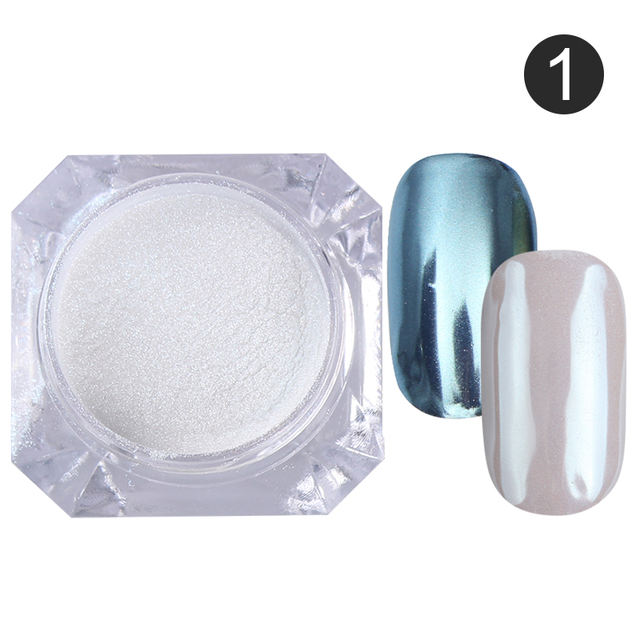 4 Boxes Mirror Nail Glitter Powder