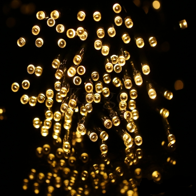solar led string lights outdoor on hoge kwaliteit 12 100 led outdoor waterdichte solar string lights lampen fairy solar holiday