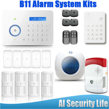 Etiger Chuango B11 Dual Network PSTN/GSM Alarm System Home Security For Alert Intelligence Wireless Strobe Siren