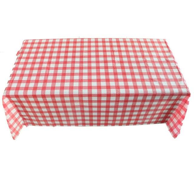 prodigious Round Disposable Tablecloths Part - 16: 2pc Transparent pvc tablecloth for weddings party picnic180 220cm square round  disposable tablecloths red lattice transparent