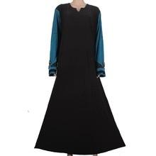 Muslim dress abaya hijab kaftan Islamic clothes for women delicate embroidery kaftan long abaya muslim dress blue 55A13FPZ750
