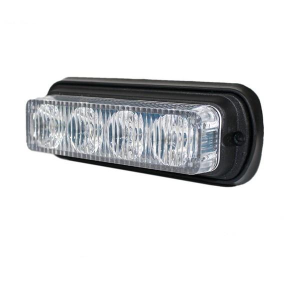 Car Truck 4 LED Emergency Beacon Light Bar Hazard Flash Strobe Warning Blue Red White