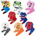 2016 Niños de Dibujos Animados Lindo Bebé Niños Niñas Ropa De Dormir Pijamas Traje de Dormir Traje Casual Minnie Mouse Spiderman Pijamas ropa de Dormir