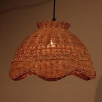 Bamboo rattan wooden pendant lights creative attic garden decoration lighting handmade restaurant study pendant lamps ZA zb5