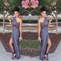 Vestido de festa Ruffles One Shoulder Chiffon Bridesmaid Dresses Purple lavender Plus Size Cheap Dress to Wedding Party